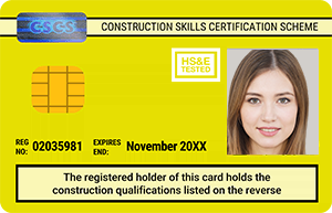 Yellow CSCS Card - Construction Site Visitor